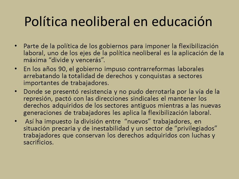 Política neoliberal en educación