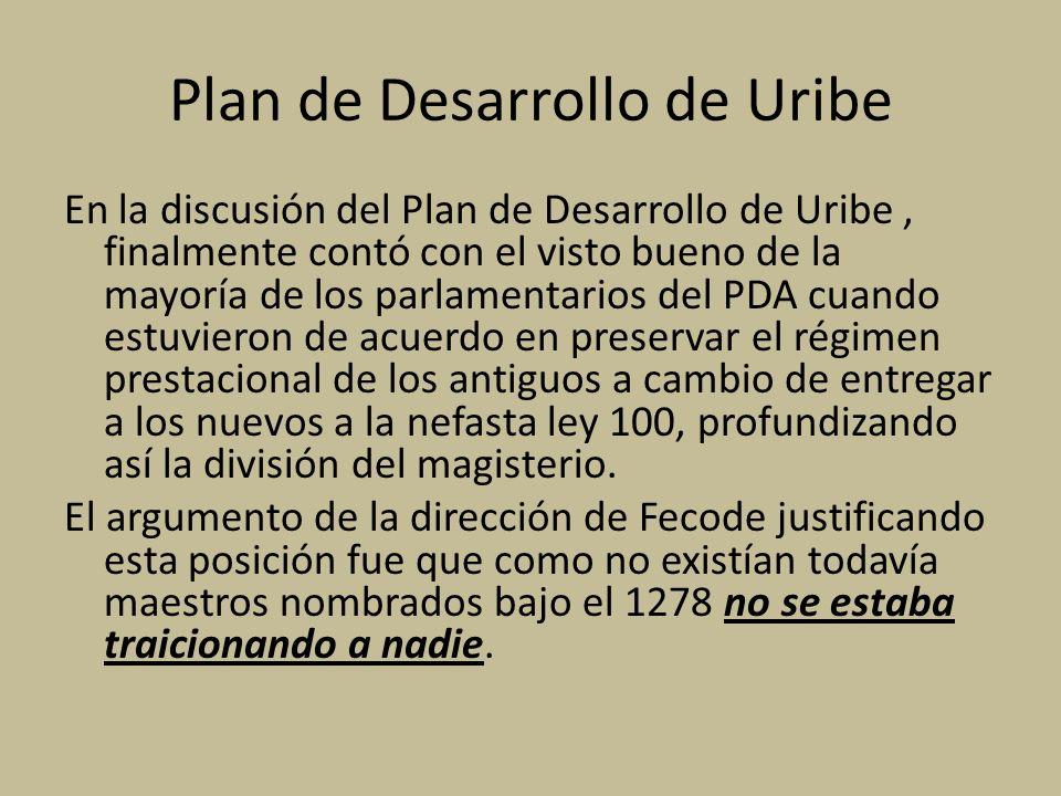 Plan de Desarrollo de Uribe