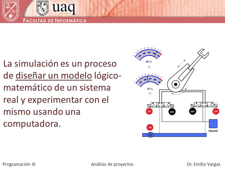 La simulación es un proceso de diseñar un modelo lógico-matemático de un sistema real y experimentar con el mismo usando una computadora.