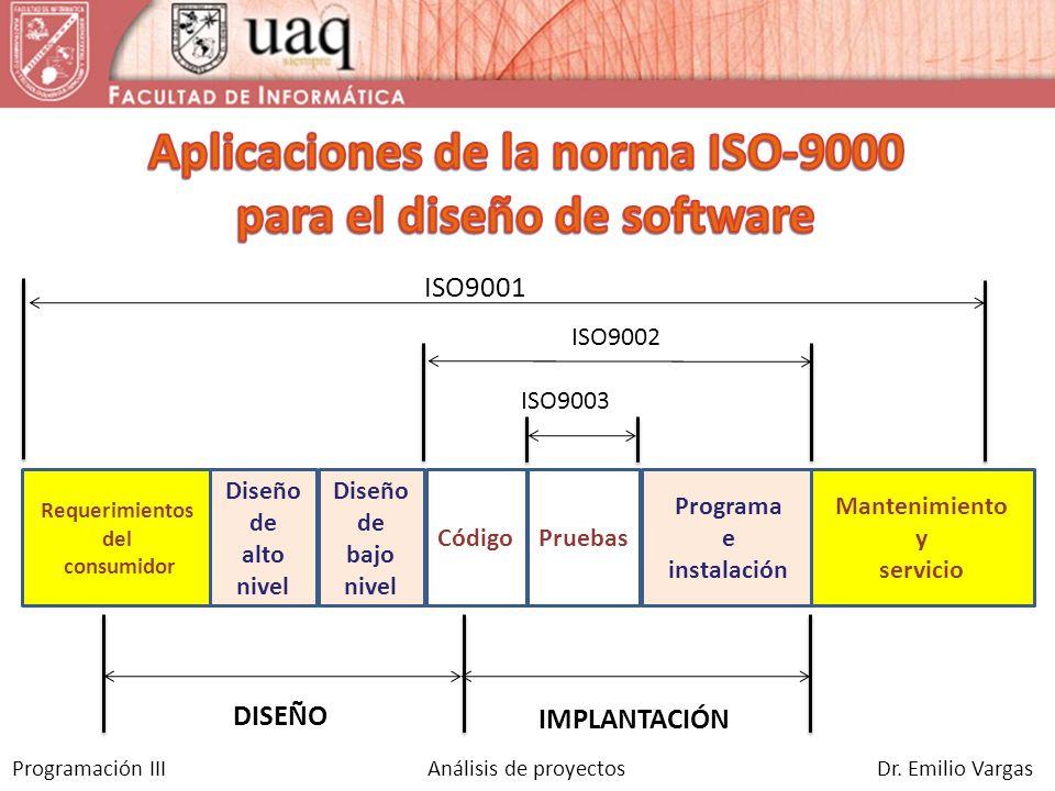 Aplicaciones de la norma ISO-9000 para el diseño de software