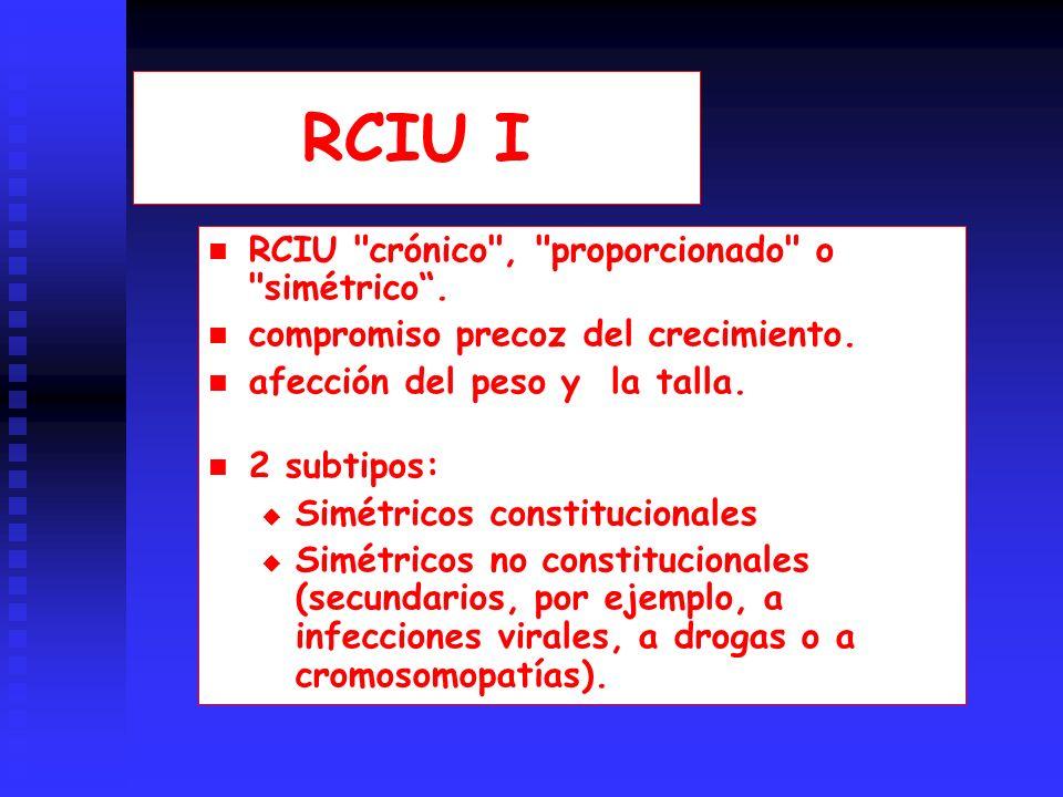 RCIU I RCIU crónico , proporcionado o simétrico .