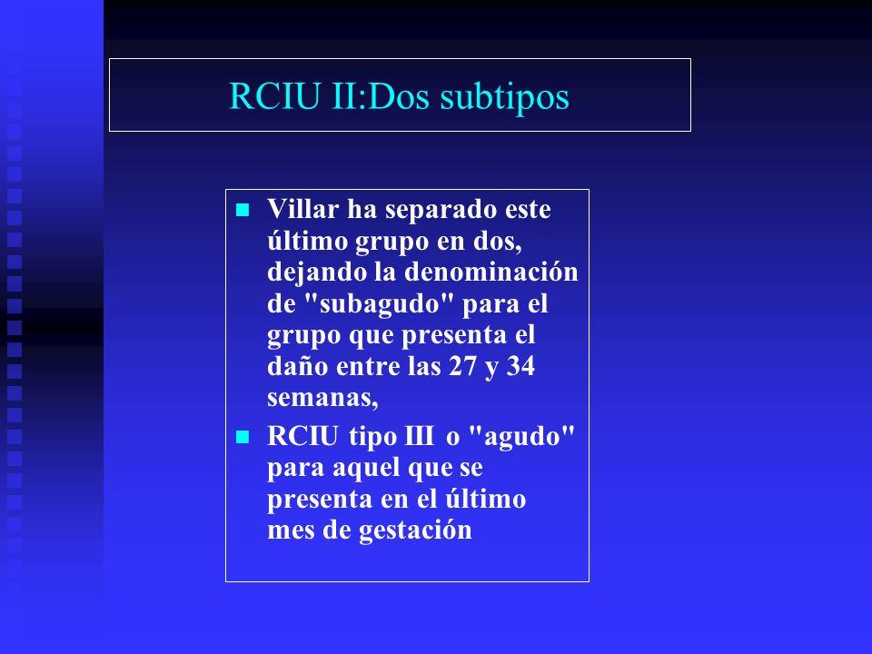 RCIU II:Dos subtipos