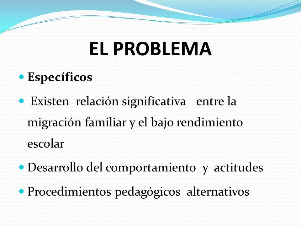 EL PROBLEMA Específicos