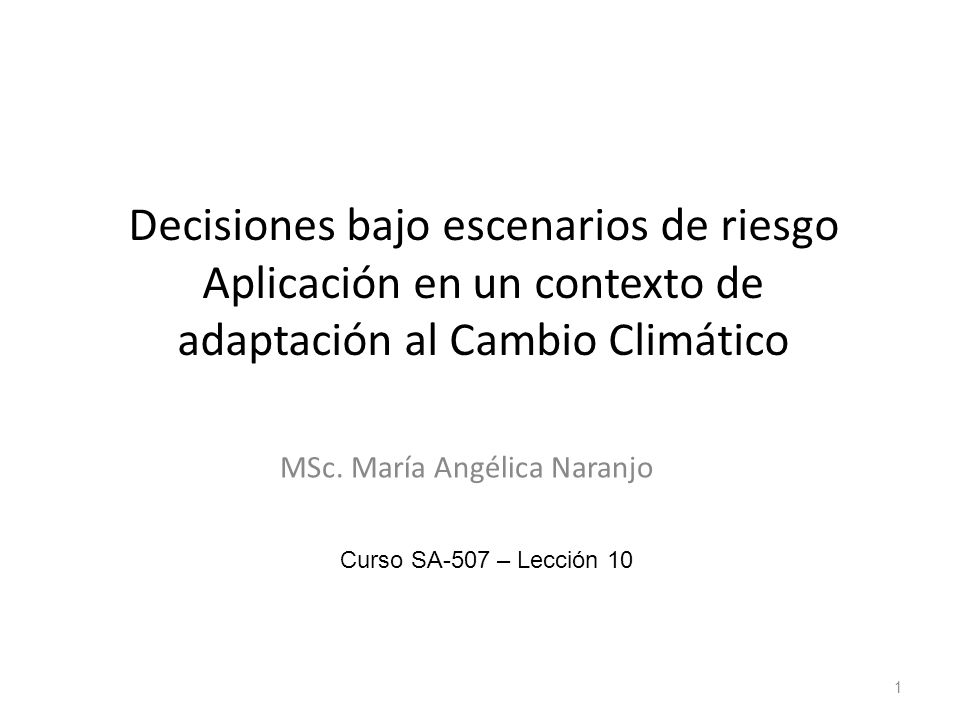 MSc. María Angélica Naranjo