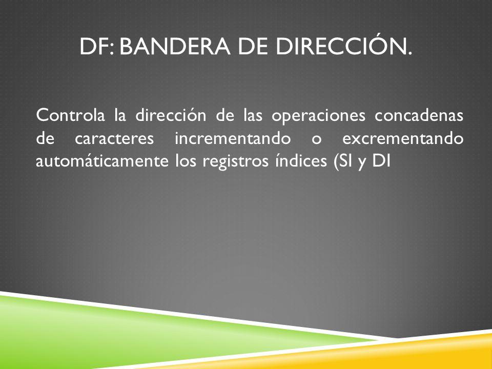 DF: Bandera de dirección.