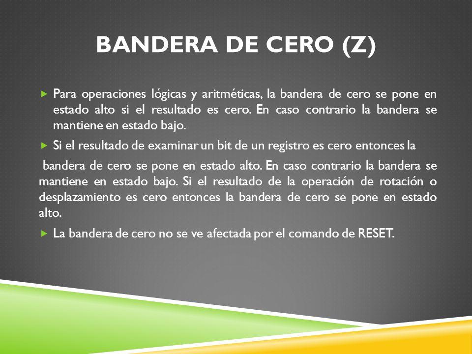 BANDERA DE CERO (Z)