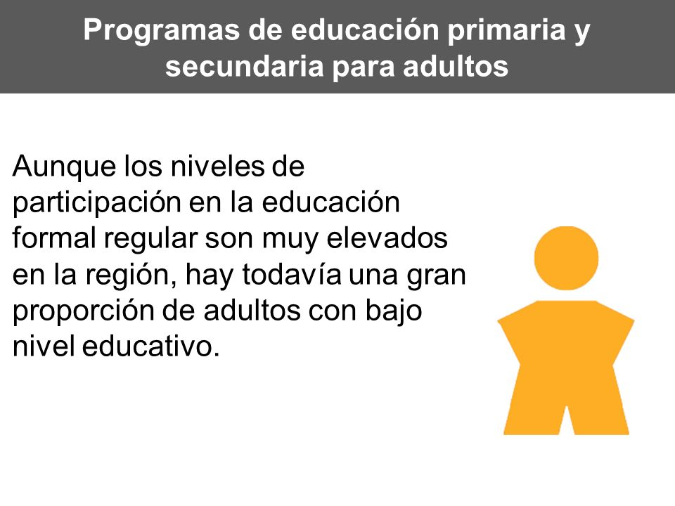 Programas de educación primaria y secundaria para adultos