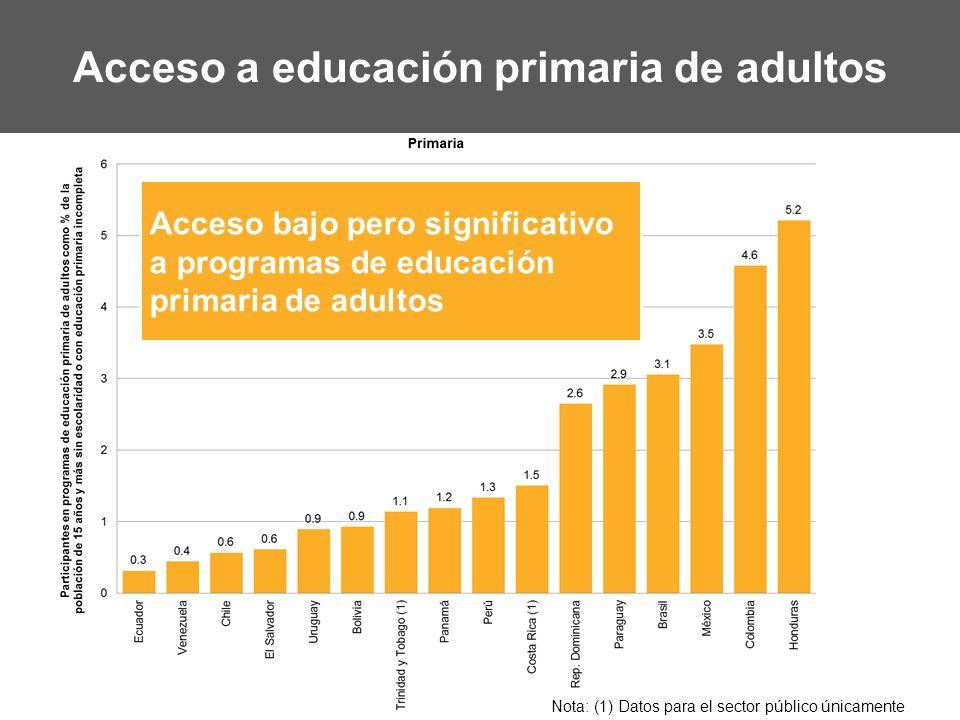 Acceso a educación primaria de adultos