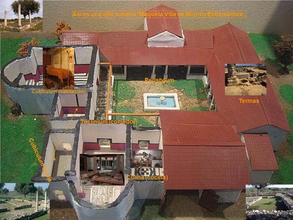 Así es una villa romana: Maqueta Villa de Monroy Extremadura.