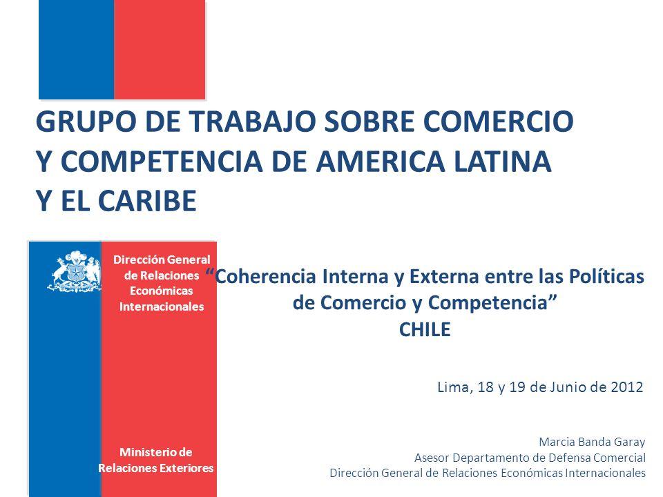 GRUPO DE TRABAJO SOBRE COMERCIO Y COMPETENCIA DE AMERICA LATINA