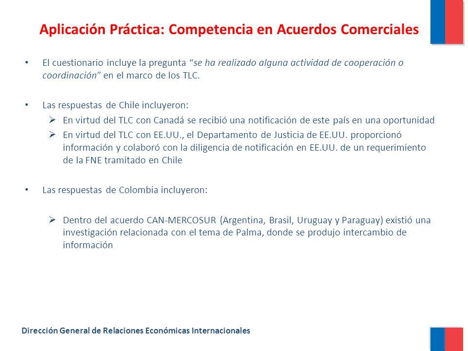 Aplicación Práctica: Competencia en Acuerdos Comerciales