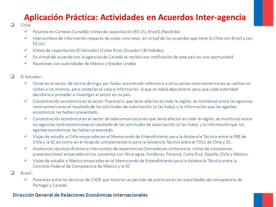 Aplicación Práctica: Actividades en Acuerdos Inter-agencia