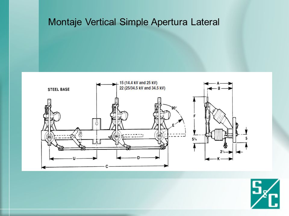 Montaje Vertical Simple Apertura Lateral