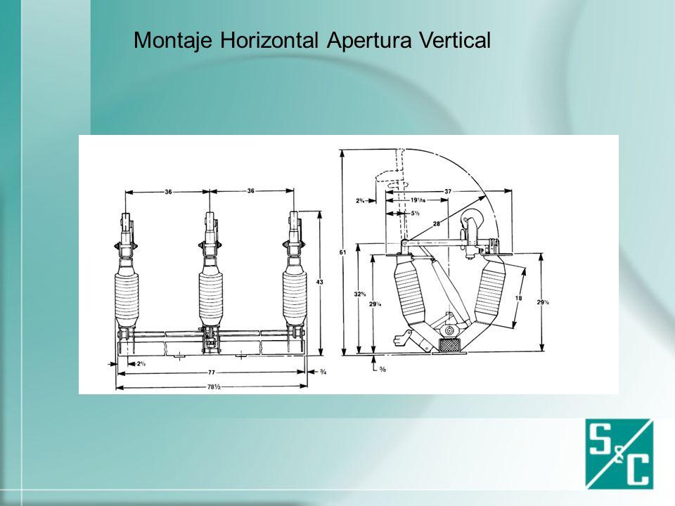 Montaje Horizontal Apertura Vertical