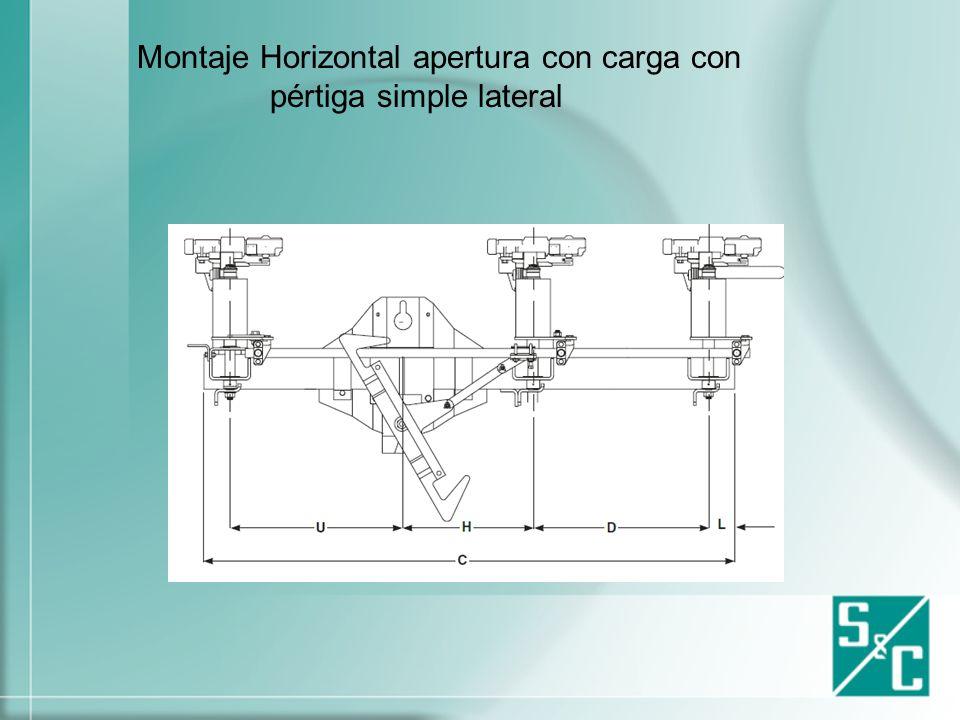 Montaje Horizontal apertura con carga con