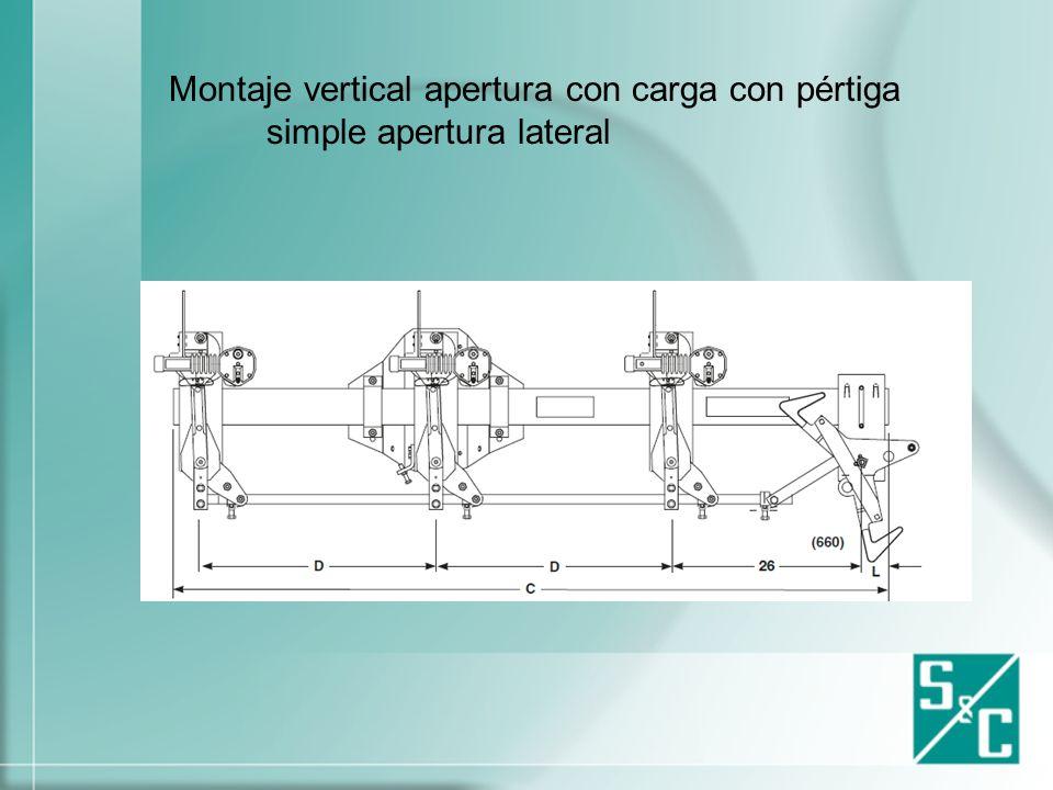 Montaje vertical apertura con carga con pértiga