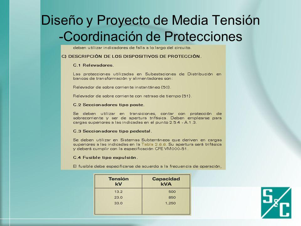 Diseño y Proyecto de Media Tensión -Coordinación de Protecciones
