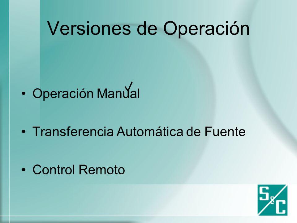 Versiones de Operación