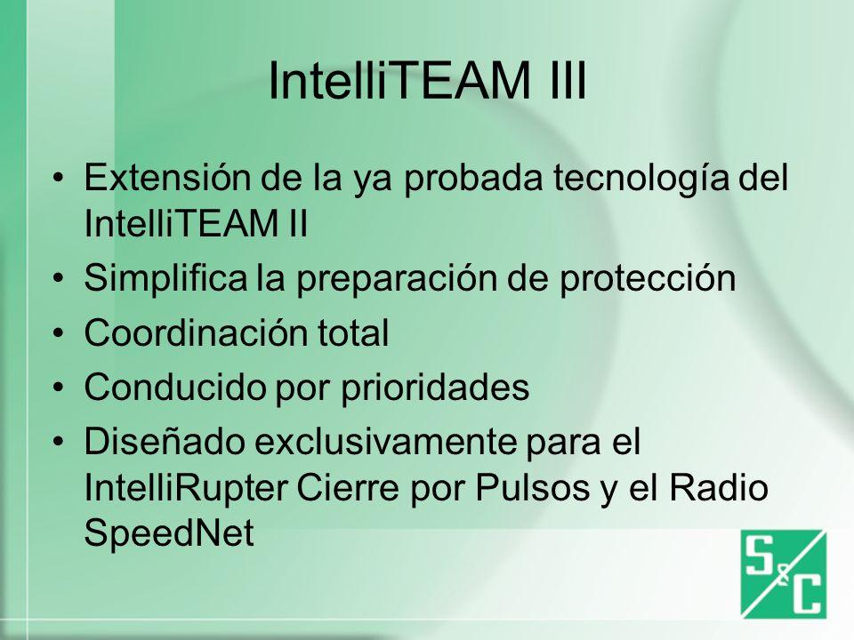 IntelliTEAM III Extensión de la ya probada tecnología del IntelliTEAM II. Simplifica la preparación de protección.