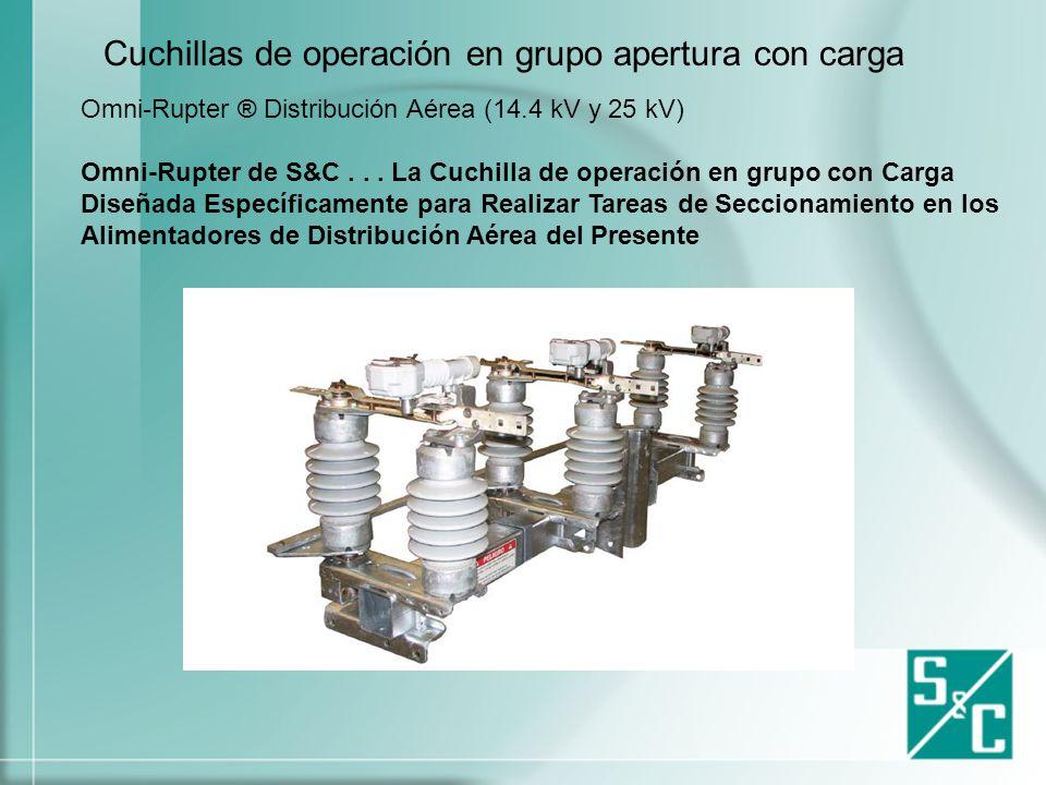 Cuchillas de operación en grupo apertura con carga