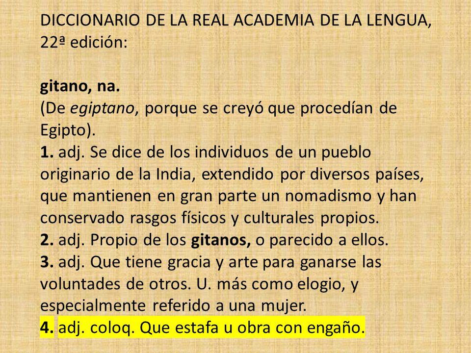 DICCIONARIO DE LA REAL ACADEMIA DE LA LENGUA, 22ª edición: