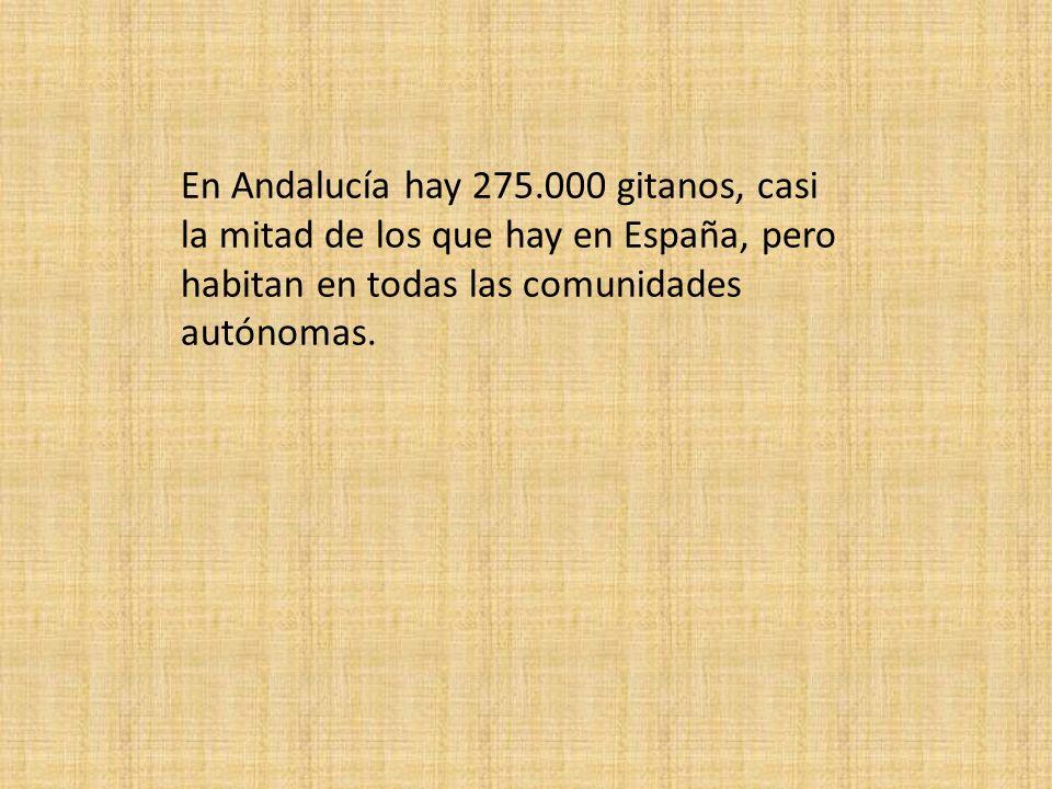 En Andalucía hay 275.000 gitanos, casi la mitad de los que hay en España, pero habitan en todas las comunidades autónomas.