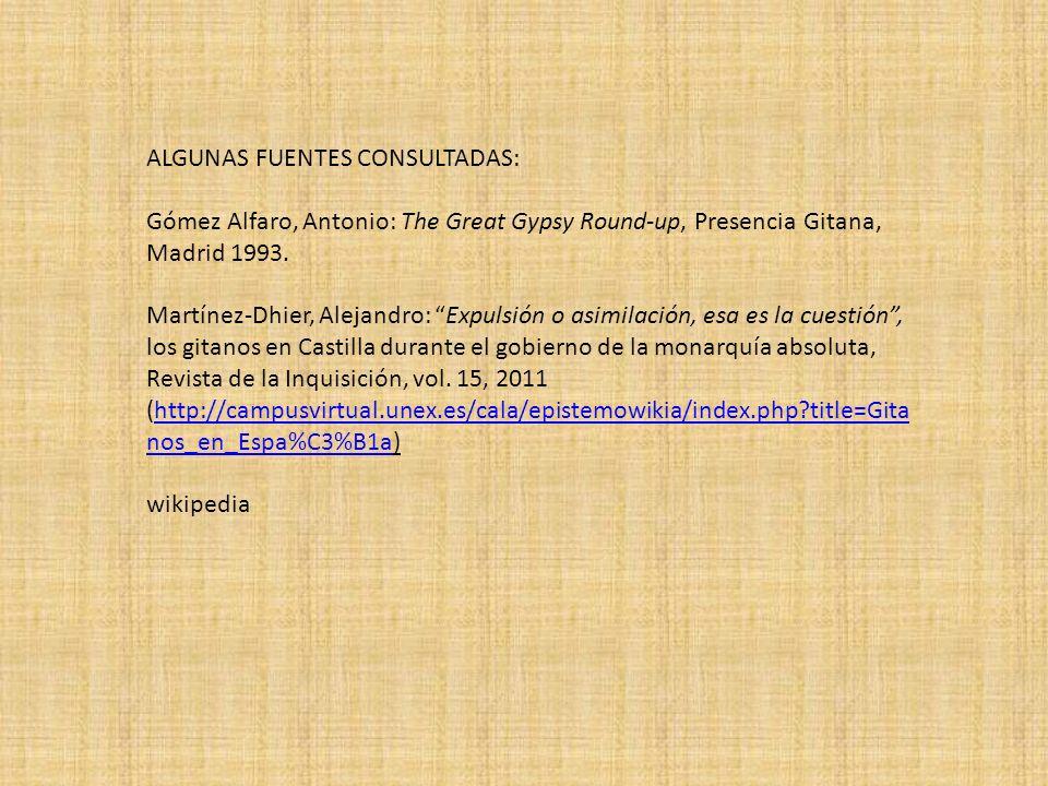ALGUNAS FUENTES CONSULTADAS: