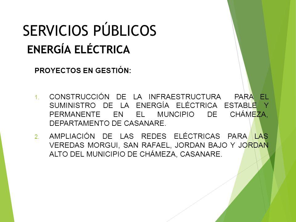 SERVICIOS PÚBLICOS ENERGÍA ELÉCTRICA