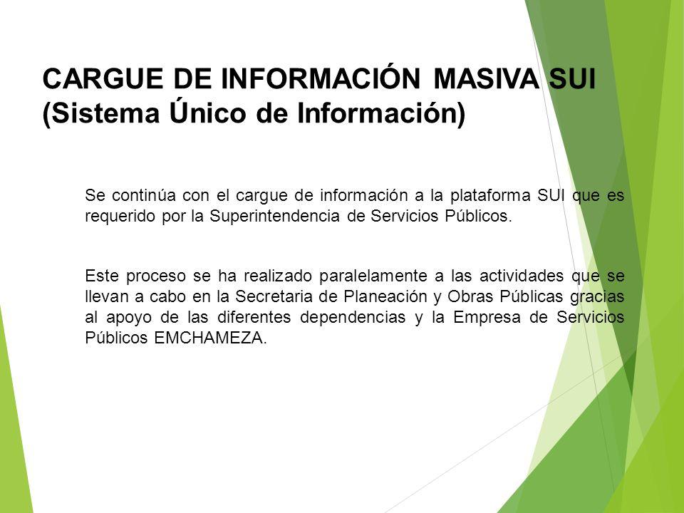 CARGUE DE INFORMACIÓN MASIVA SUI (Sistema Único de Información)