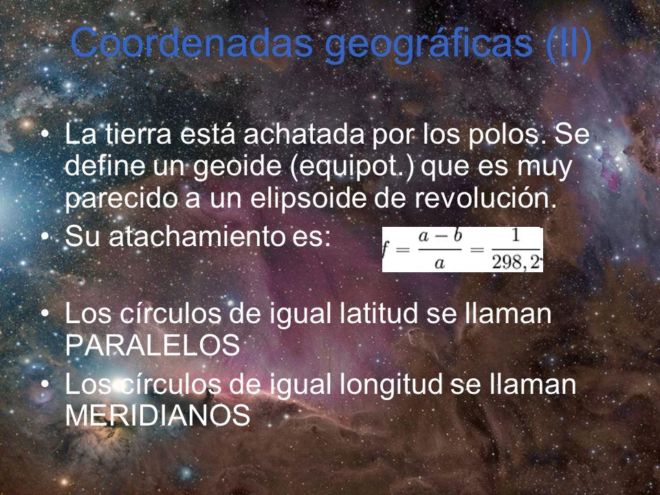 Coordenadas geográficas (II)