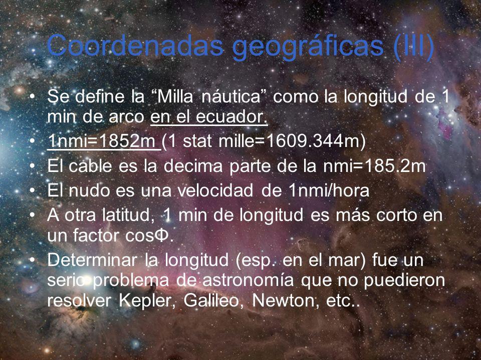 Coordenadas geográficas (III)
