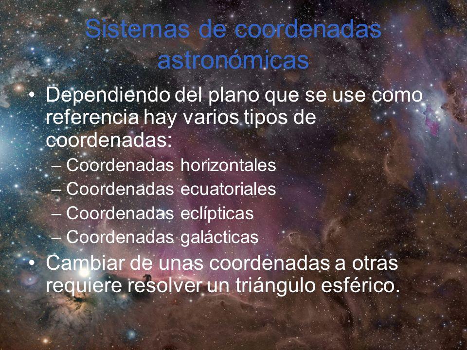 Sistemas de coordenadas astronómicas