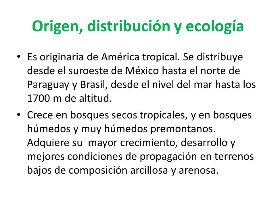 Origen, distribución y ecología