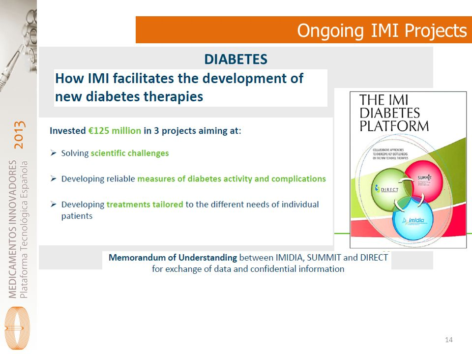 Ongoing IMI Projects DIABETES