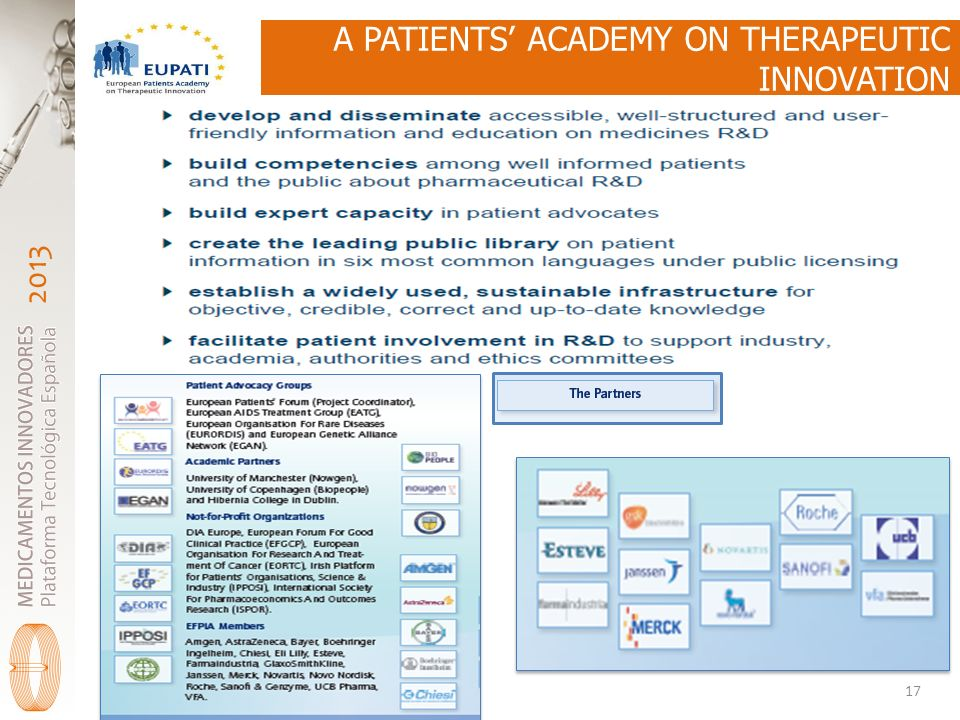 A PATIENTS' ACADEMY ON THERAPEUTIC INNOVATION