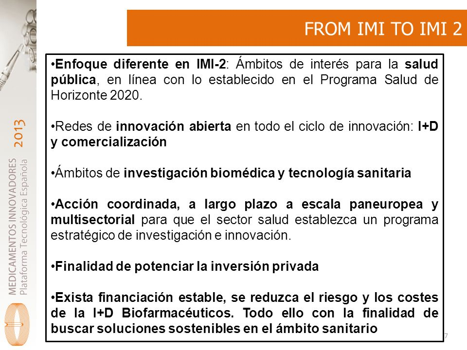 FROM IMI TO IMI 2
