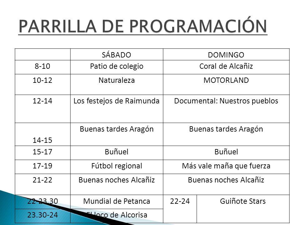 PARRILLA DE PROGRAMACIÓN
