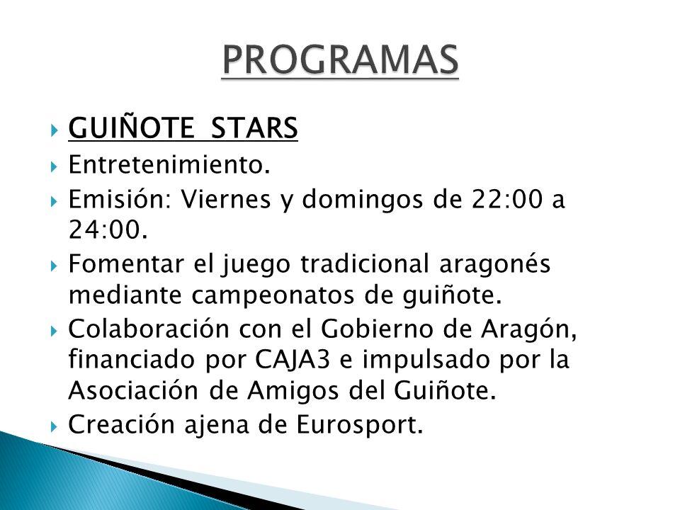 PROGRAMAS GUIÑOTE STARS Entretenimiento.