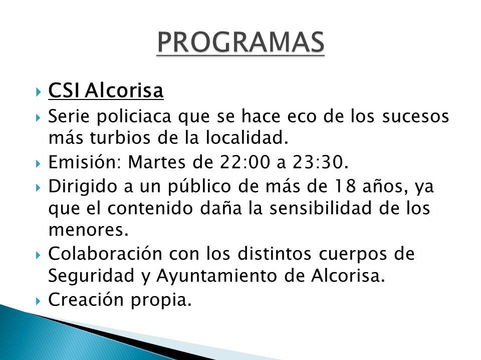 PROGRAMAS CSI Alcorisa