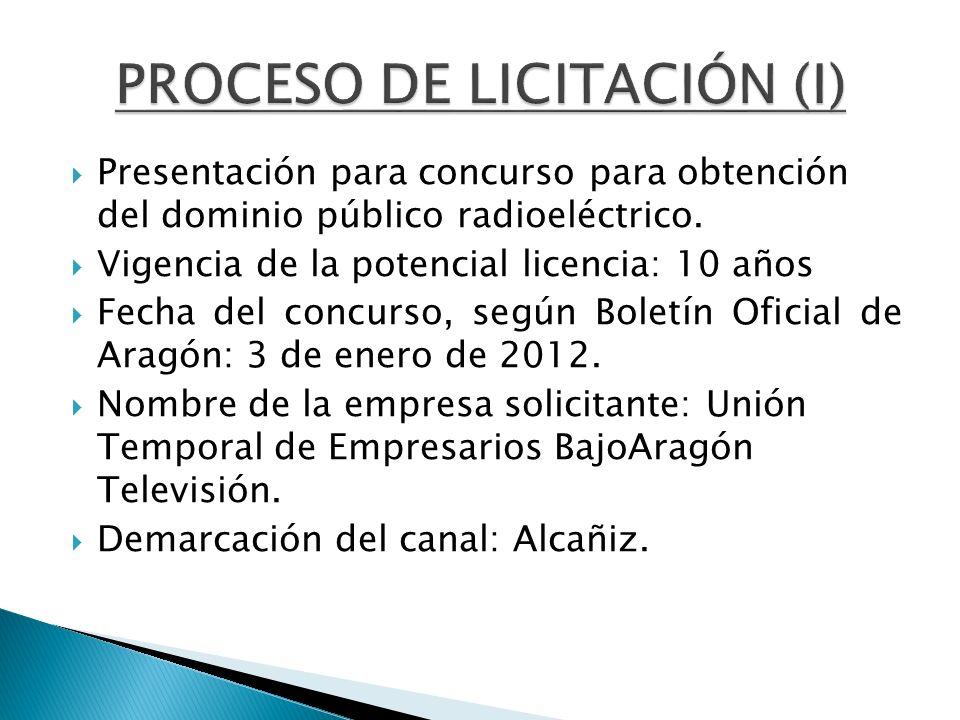 PROCESO DE LICITACIÓN (I)