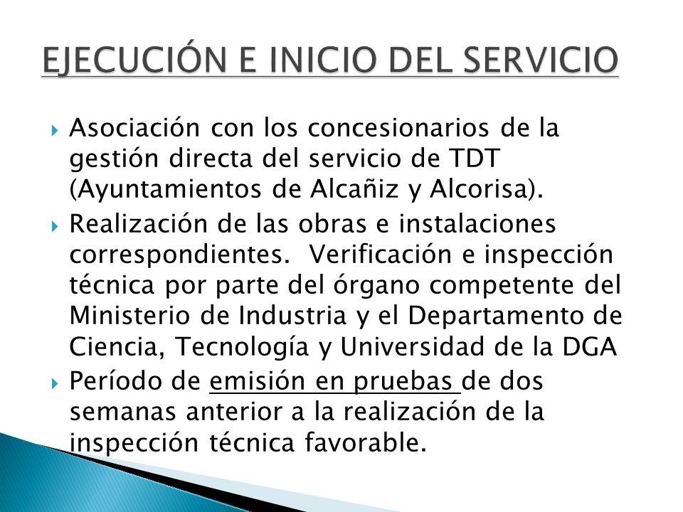 EJECUCIÓN E INICIO DEL SERVICIO