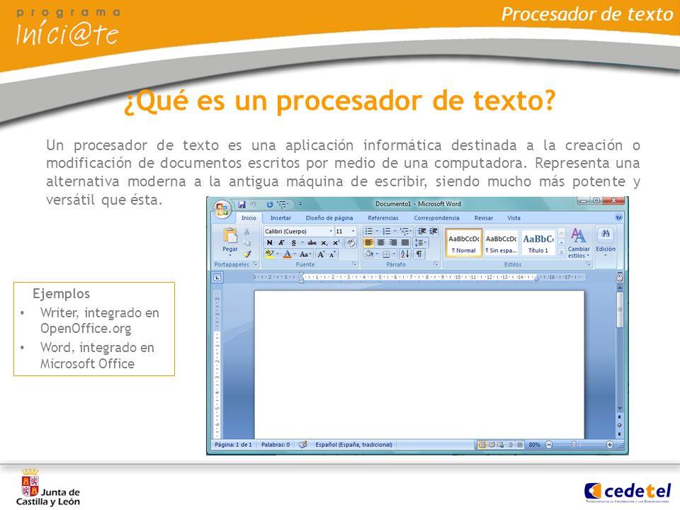 ¿Qué es un procesador de texto