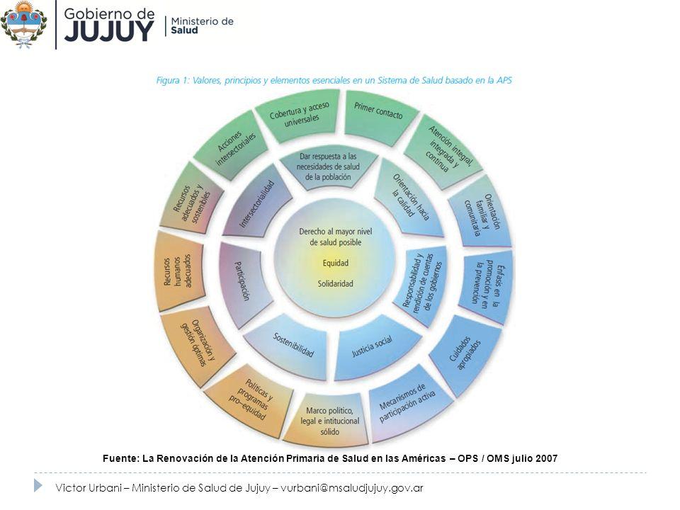 Fuente: La Renovación de la Atención Primaria de Salud en las Américas – OPS / OMS julio 2007