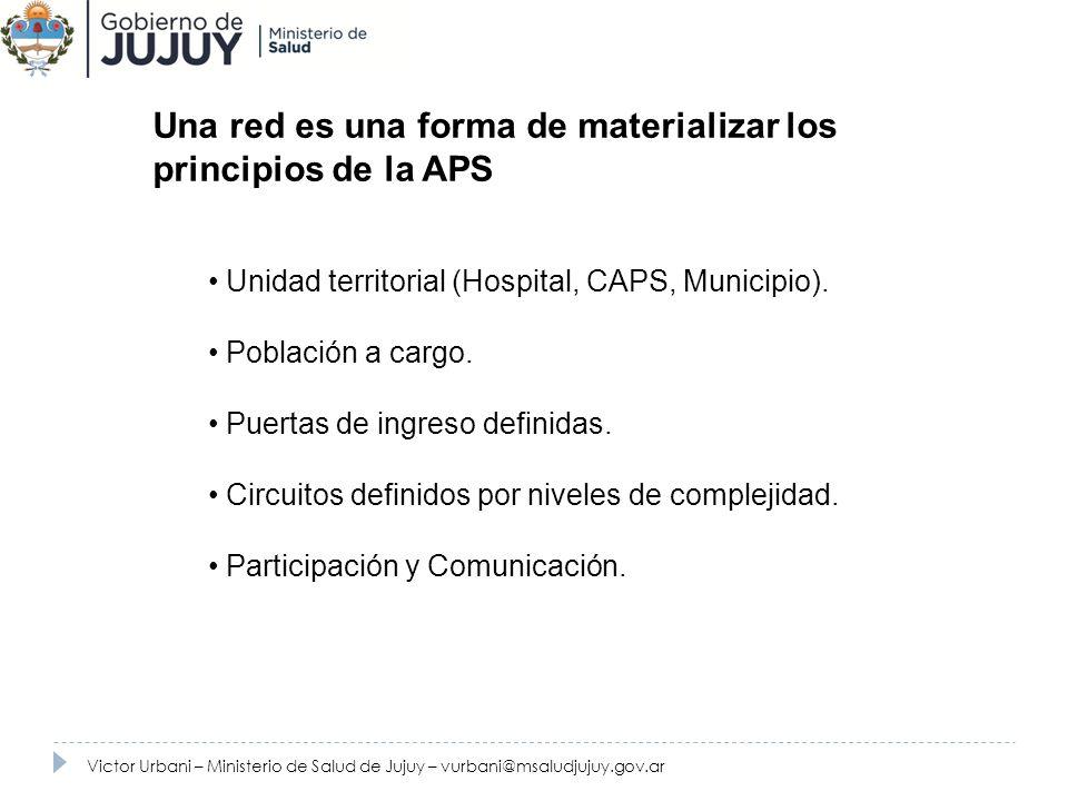 Una red es una forma de materializar los principios de la APS