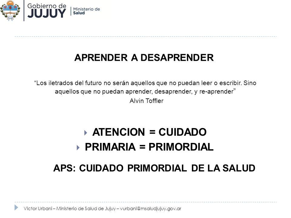 APRENDER A DESAPRENDER APS: CUIDADO PRIMORDIAL DE LA SALUD