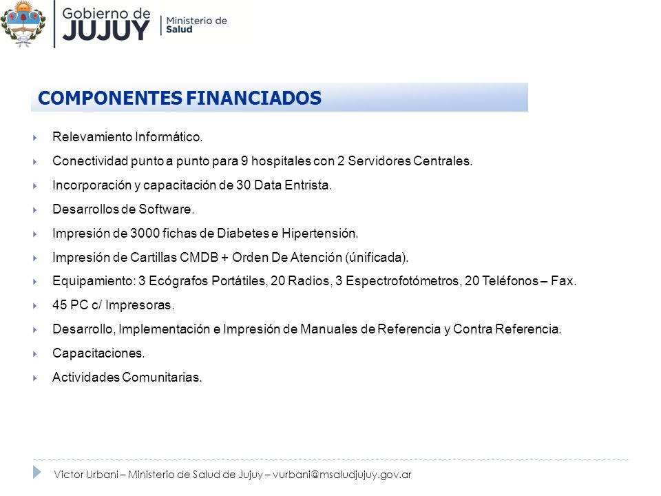 COMPONENTES FINANCIADOS