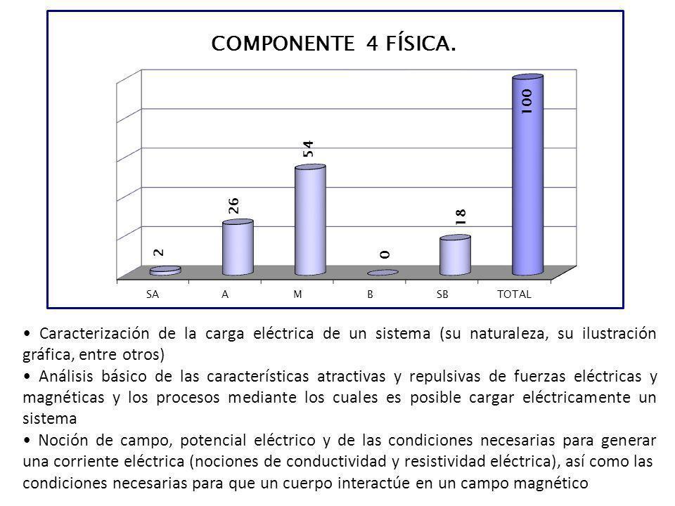 • Caracterización de la carga eléctrica de un sistema (su naturaleza, su ilustración gráfica, entre otros)