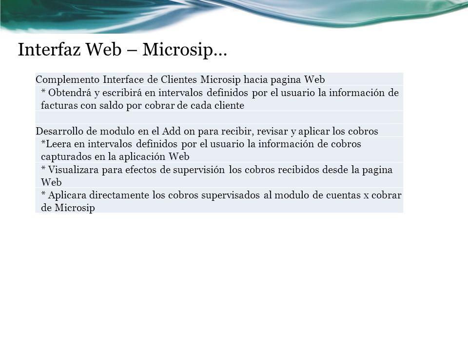 Interfaz Web – Microsip…