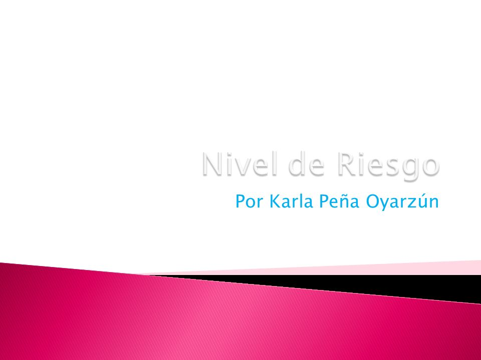 Nivel de Riesgo Por Karla Peña Oyarzún
