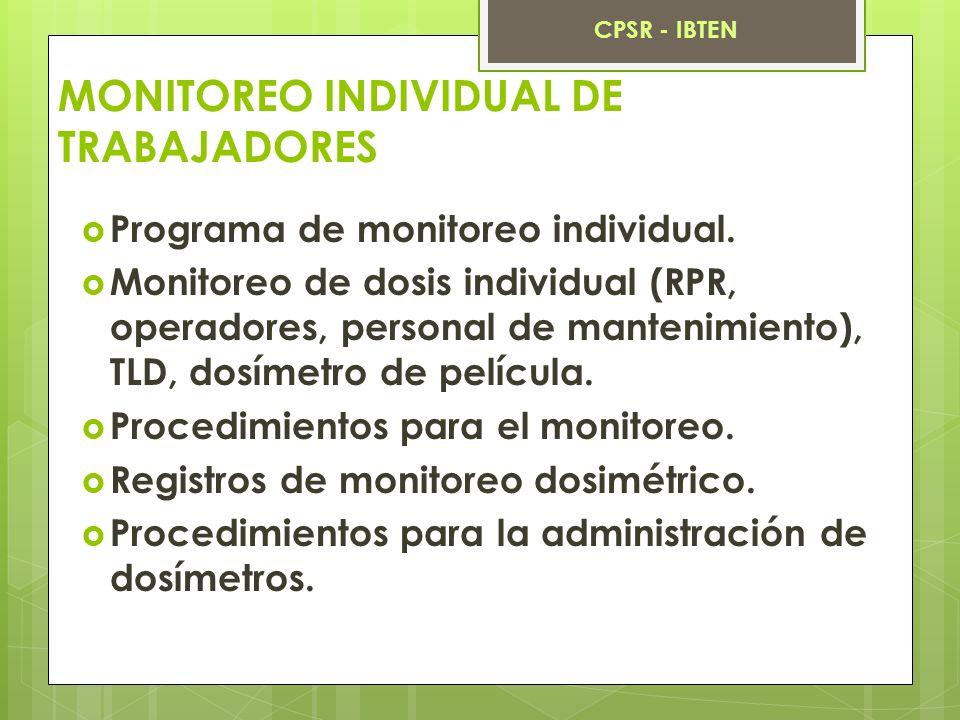 MONITOREO INDIVIDUAL DE TRABAJADORES